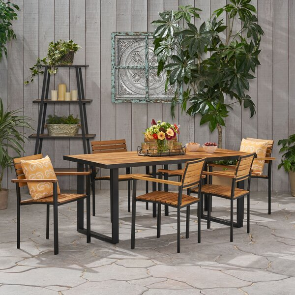 Sheppard Outdoor 7 Piece Dining Set by Breakwater Bay