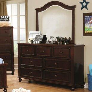 Best Eliot Traditional 7 Drawer Dresser with Mirror ByHarriet Bee