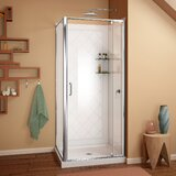 Flex 36 x 76.75 Rectangle Pivot Shower Enclosure With Base Included byDreamLine