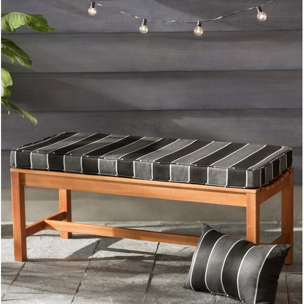 Hinkel Indoor/Outdoor Sunbrella Bench Cushion by Brayden Studio