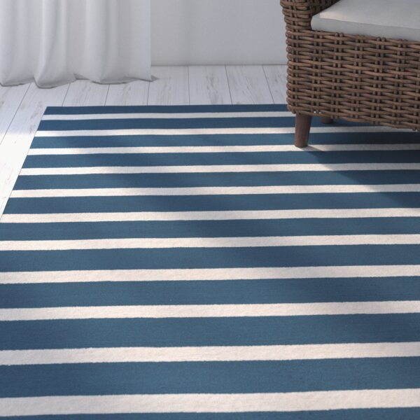 Lyndon Hand-Tufted Marine Blue Indoor/Outdoor Area Rug by Beachcrest Home