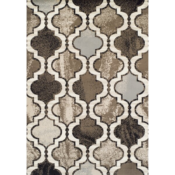 Woburn Arbor Synthetic Black Area Rug by Red Barrel Studio