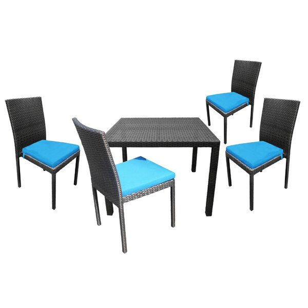 Baumgarten 5 Piece Dining Set with Cushions by Red Barrel Studio