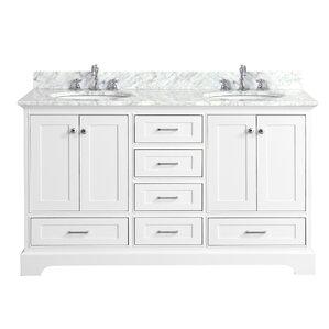 white double sink bathroom vanity. Harper 60  Double Bathroom Vanity Set Vanities You ll Love Wayfair