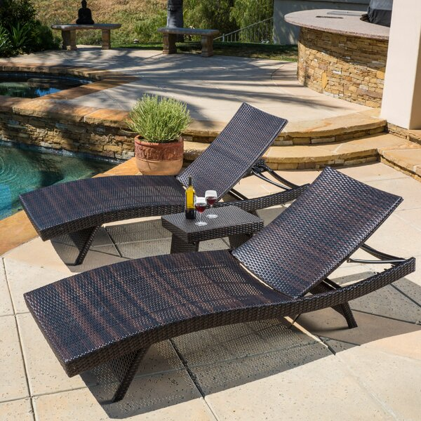 Avi Sun Lounger Set with Table by Ivy Bronx