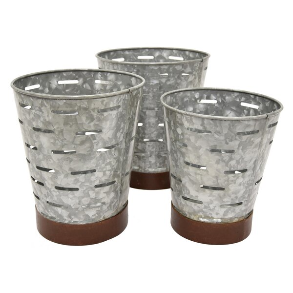 Flavia 3-Piece Metal Pot Planter Set by Gracie Oaks