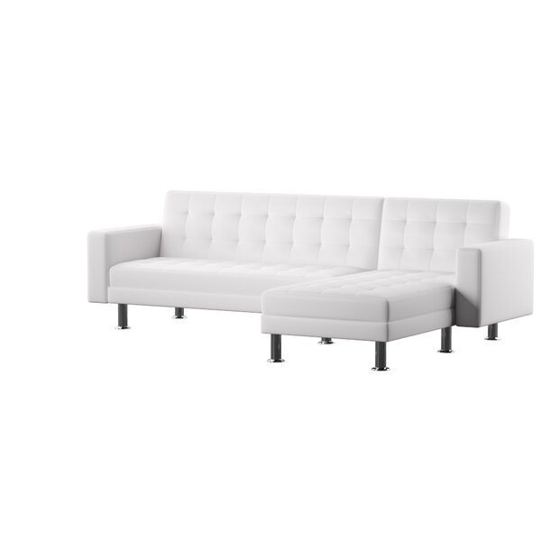 Nuttall Reversible Chaise Sleeper Sectional by Mercury Row