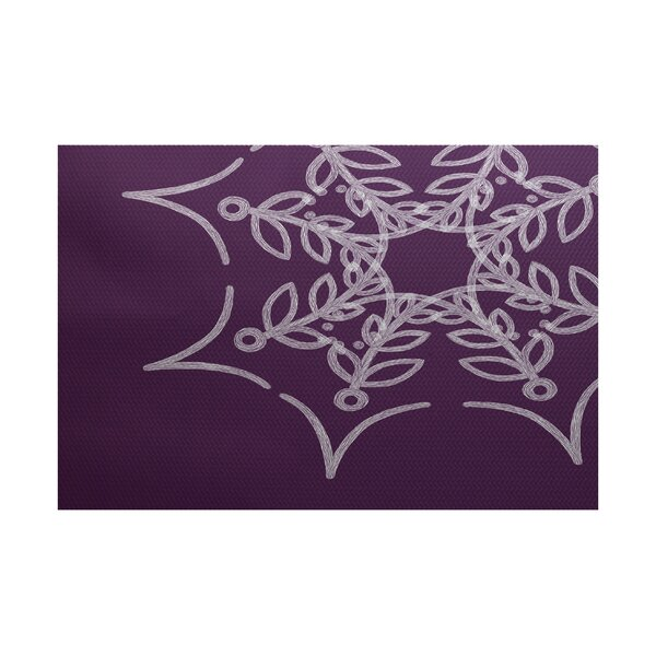 Web Art Holiday Print Purple Outdoor Indoor/Outdoor Area Rug by The Holiday Aisle