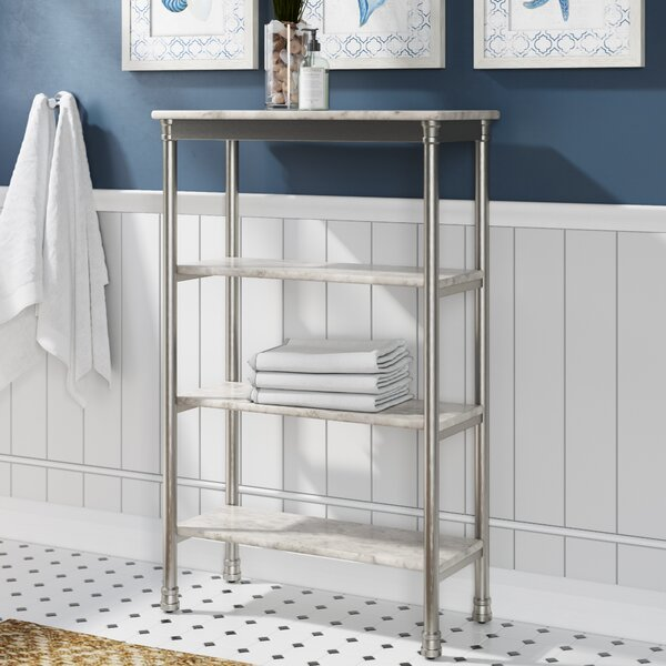 Nathaniel 24 W x 38 H Bathroom Shelf by Beachcrest Home