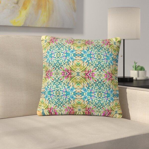 Laura Nicholson Prairie Dazzler Floral Outdoor Throw Pillow by East Urban Home
