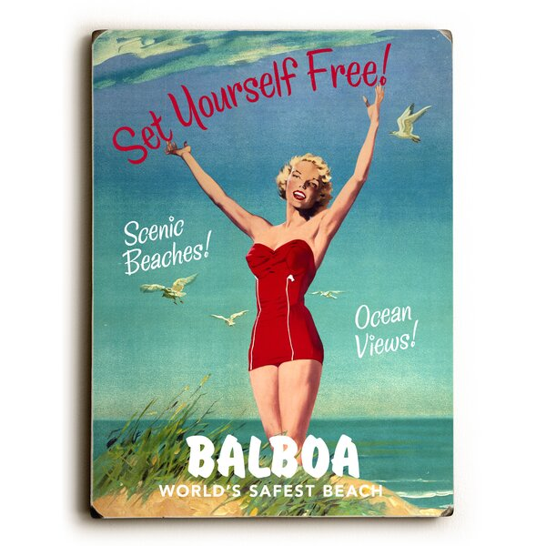 Set Yourself Free Vintage Advertisement by Artehouse LLC