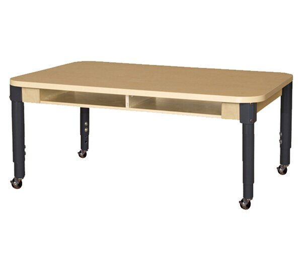 Wood Adjustable Height Multi-Student Desk by Wood Designs