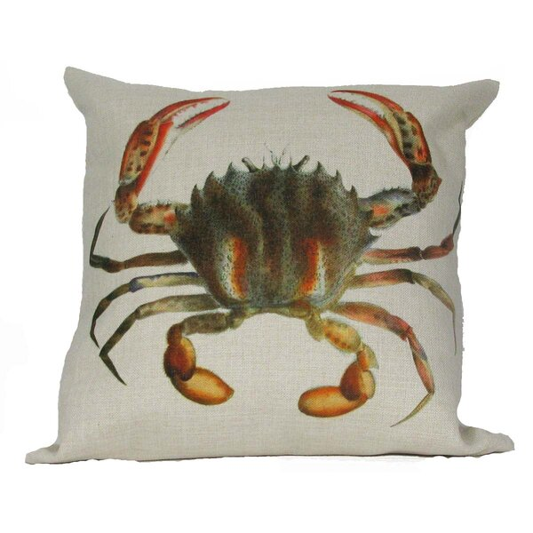 Crab Throw Pillow by Golden Hill Studio