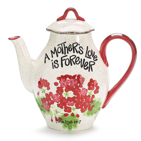 Mothers Love Geranium 44 Oz. Ceramic Teapot by burton + BURTON