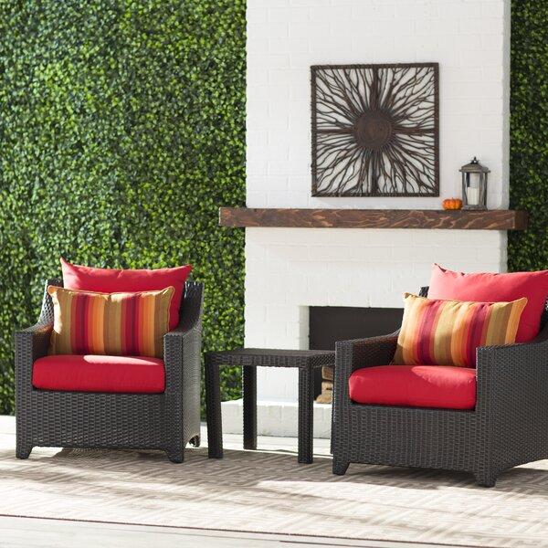 Northridge 3 Piece Sunbrella Conversation Set with Cushions by Three Posts