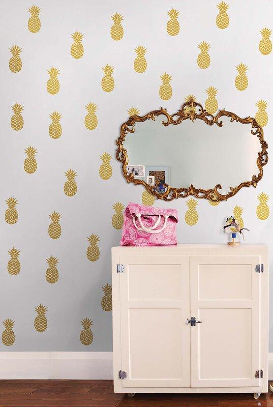 WallPops Pineapple Wall Decal Reviews Wayfair - Advertize monogram wall decals