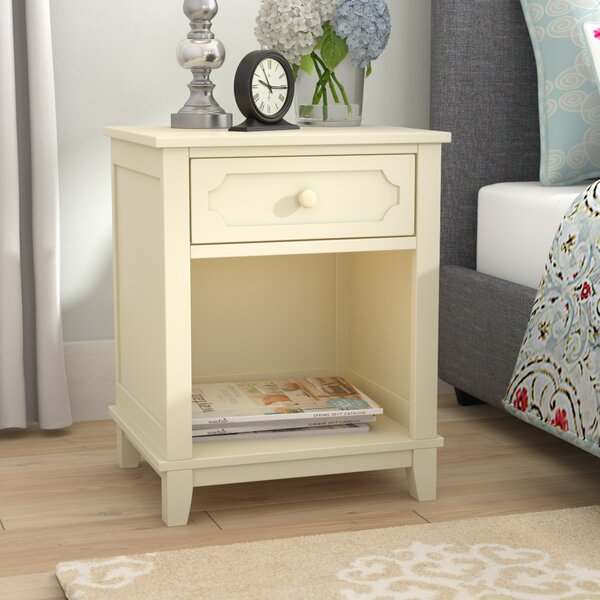 Cynthia 1 Drawer Nightstand by Three Posts