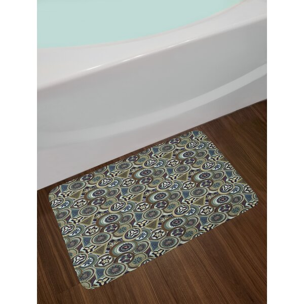 Abstract Circles African Bath Rug by East Urban Home