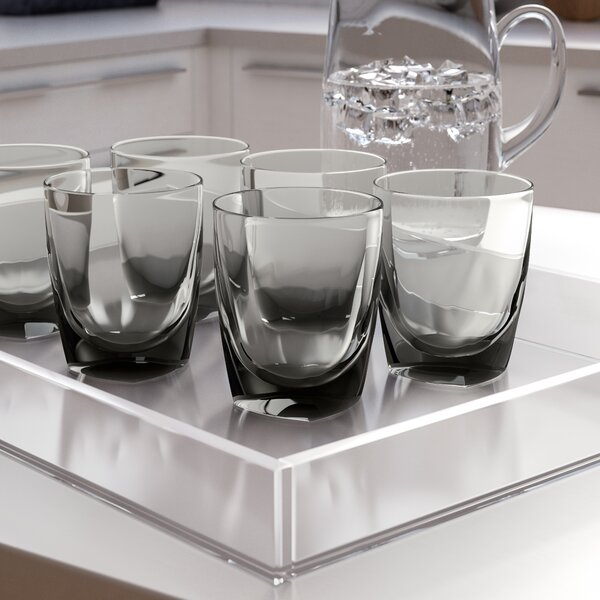 Colena Iced 16 oz. Acrylic Everyday Glass (Set of 6) by Wade Logan