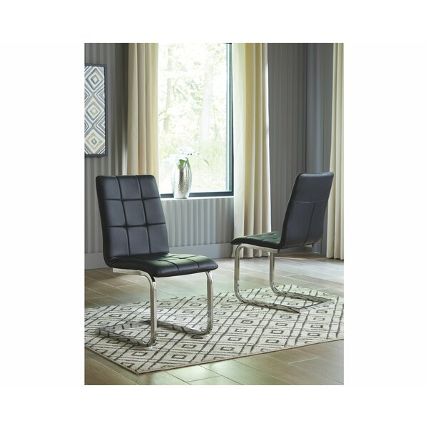 Howard Upholstered Side chair (Set of 4) by Orren Ellis Orren Ellis