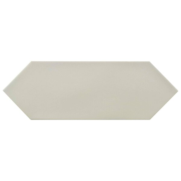 Volant 4 x 11.75 Porcelain Field Tile in Light Gray by EliteTile