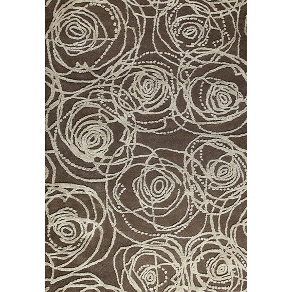Rosa Hand-Tufted Brown/Gray Area Rug by M.A. Trading
