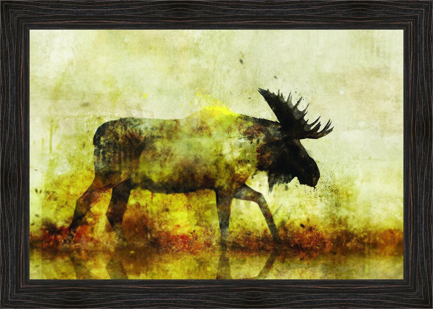 Ashton Wall Décor LLC \'Happy Moose I\' Framed Painting Print on ...