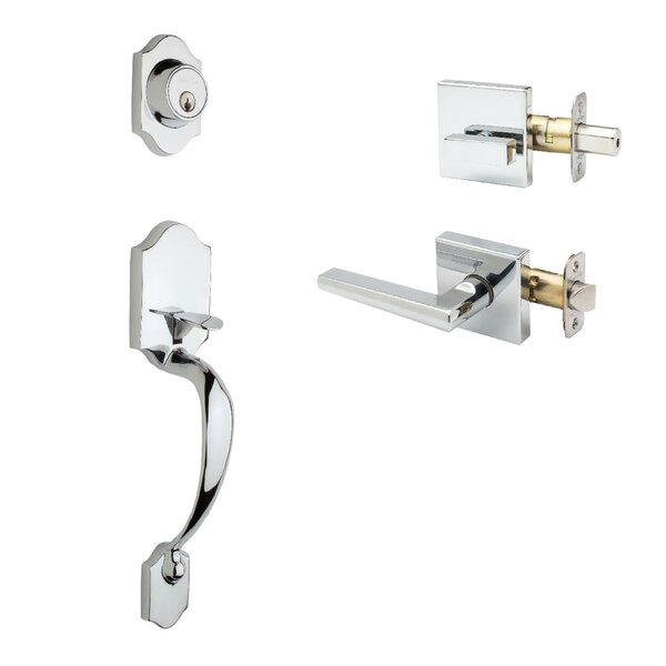 Heritage Single Cylinder Handleset with Verona Lever Interior Trim by Copper Creek