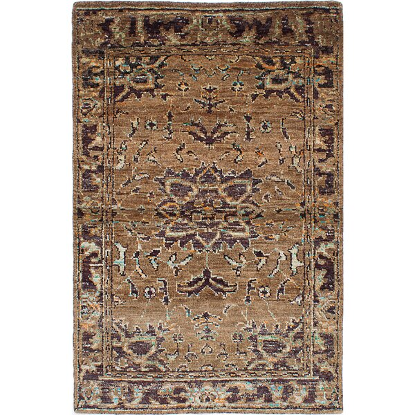 One-of-a-Kind Brewster Hand-Knotted Light Brown Area Rug by Bungalow Rose
