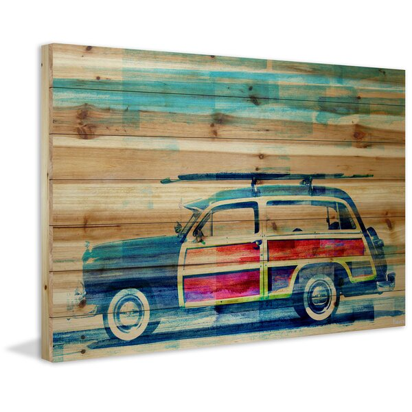 Surf Day Painting Print on Wood by Marmont Hill