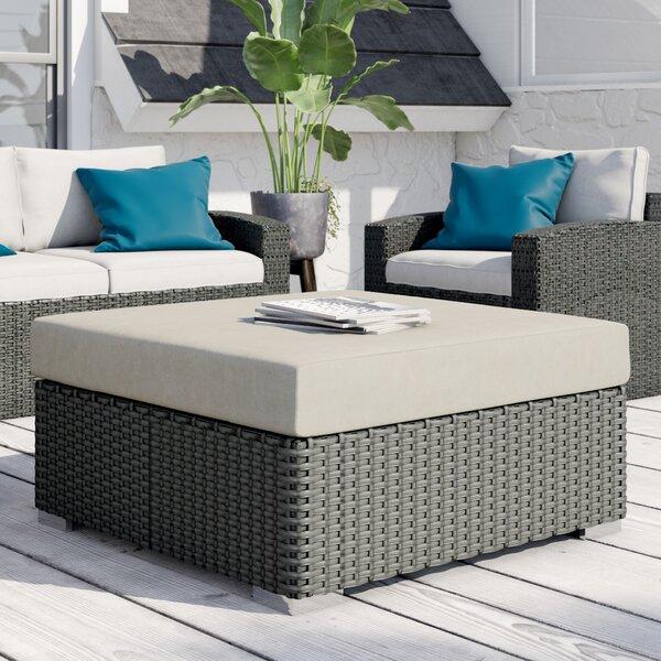 Tripp Outdoor Ottoman with Sunbrella Cushions by Brayden Studio