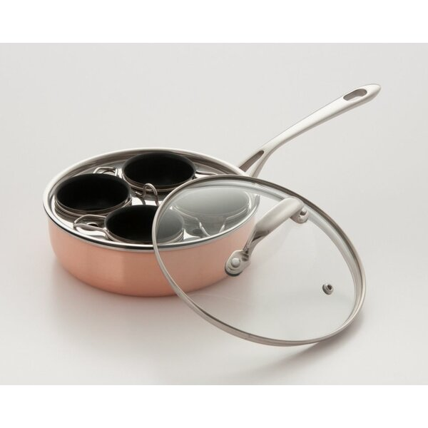 4 Cup Stainless Steel Nonstick Egg Poacher by Cook Pro