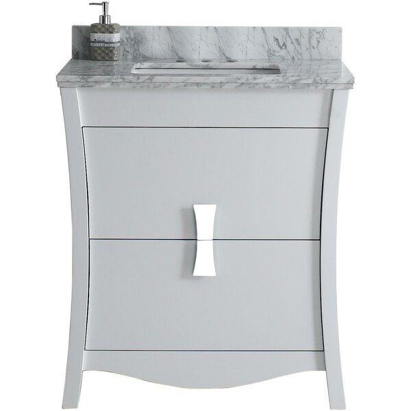 Cataldo Floor Mount 31 Single Bathroom Vanity Set with 4 Centers Faucet Mount by Royal Purple Bath Kitchen