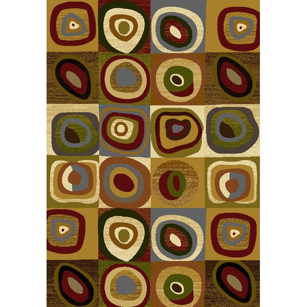 Affinity Seismic Brown Area Rug by United Weavers of America