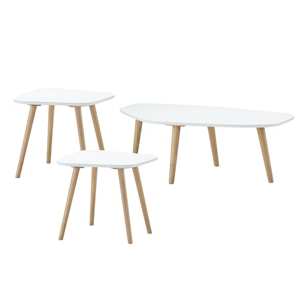 Quito Wood 3 Piece Coffee Table Set By Ebern Designs