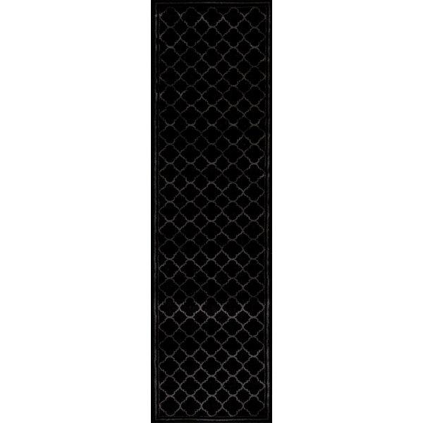 Ellerswick Trellis Contemporary Modern Design Black Area Rug by Andover Mills