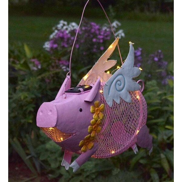 Flying Pig Solar Decorative Bird Feeder by Plow & Hearth