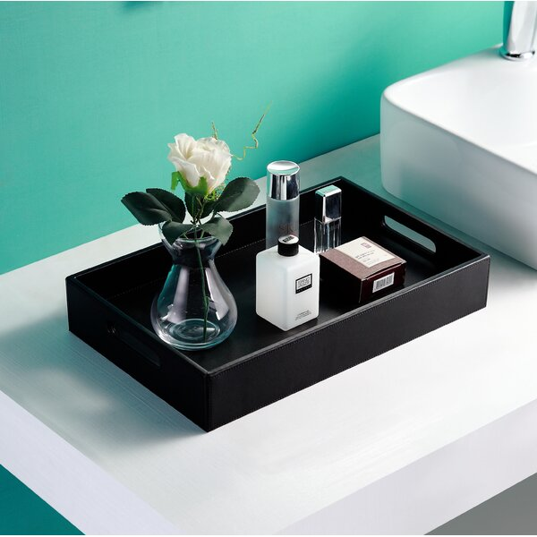 Villalon Leather Bathroom Accessory Tray by Mercer41