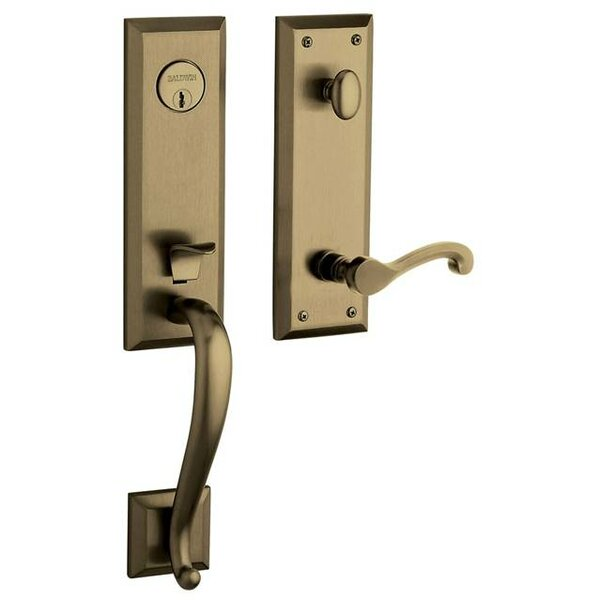 Stonegate Single Cylinder Handleset with Interior Lever and Emergency Egress by Baldwin