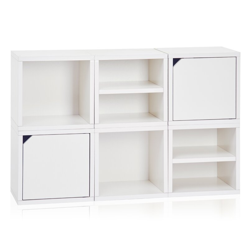 Connect System Stackable Modular Cubby Organizer 26 8  Cube Unit Bookcase. Modern Storage Cubes   AllModern