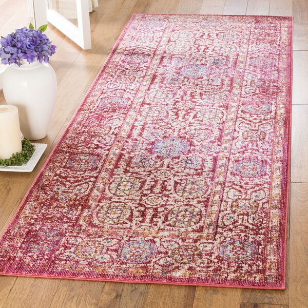 Justine Fuchsia/Ivory Area Rug by Bungalow Rose