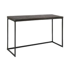 Solid Timber Wood Console Table Black Transitional