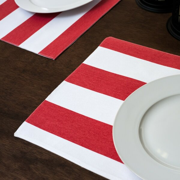Stripes Placemat (Set of 4) by Linen Tablecloth