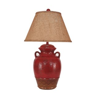 Ginger jar lamps wayfair halladay ginger jar 29 table lamp with 2 handles aloadofball Image collections