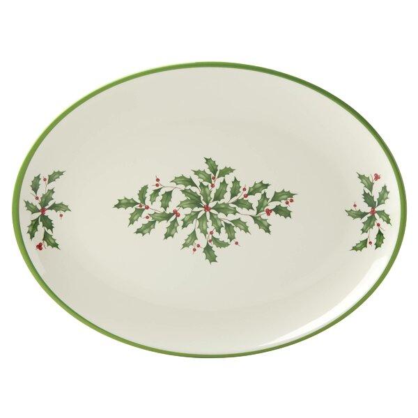 Holiday Melamine Oval Platter by Lenox