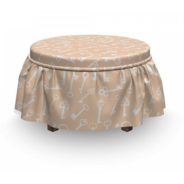 Antique Keys Ottoman Slipcover (Set Of 2) By East Urban Home