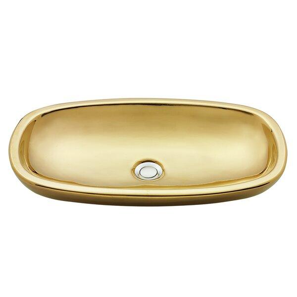 Regatta Ceramic Oval Vessel Bathroom Sink by Nantucket Sinks