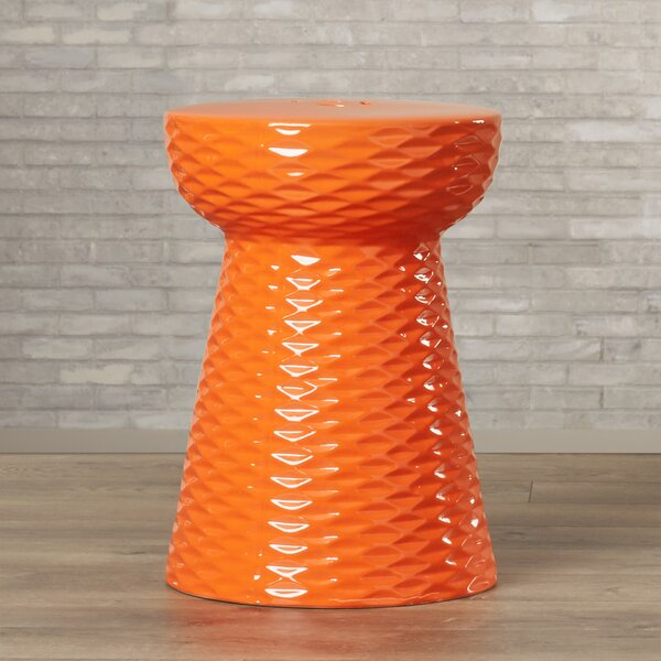 Verne Ceramic Accent Stool By Ivy Bronx