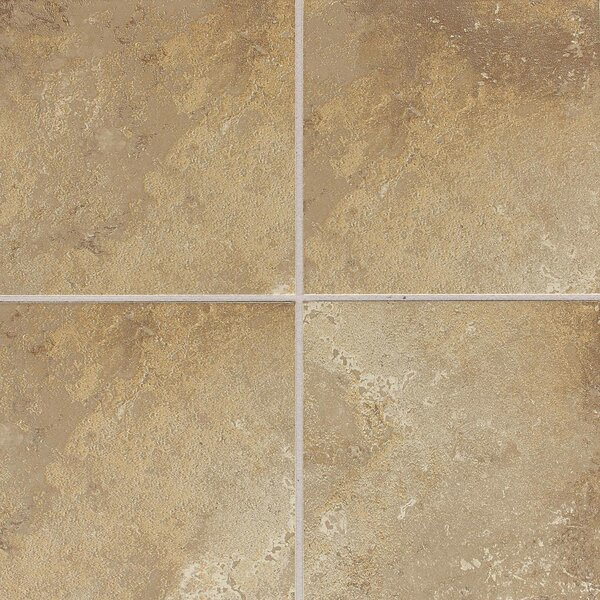 Huston 6 x 6 Ceramic Field Tile in Raffia Noce by Itona Tile