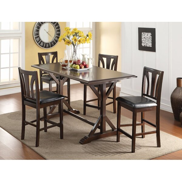 Quintal Appealing Counter Height Solid Wood Dining Table by Winston Porter